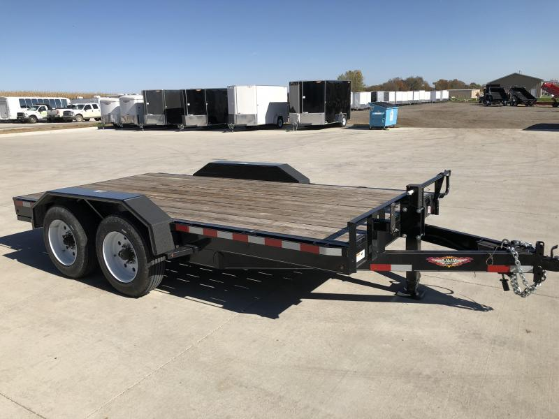 2017 H&H Trailers 8.5x14' Industrial Flatbed Tandem Axles