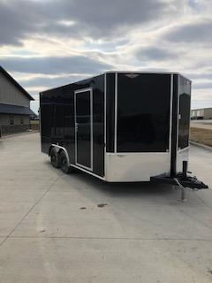 2020 H and H Trailers 101X16 Black Cargo V-Nose 5.2k Tandem Axle