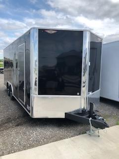 "2019 H&H Trailers 101""x20' Black Enclosed Car Hauler V-Nose Tandem Axle"