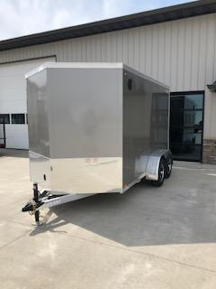 2019 Legend Trailers Pewter Thunder  7'X12' + 2' V-Nose Tandem Axle Enclosed Cargo Trailer