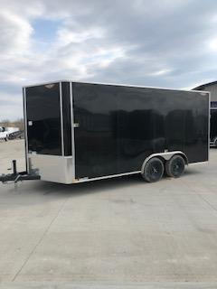 2019 H&H Trailers 101x16 Cargo Tandem Axle 5.2k Flat Top V-Nose Trailer