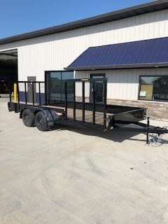 2019 H and H Trailers 82X18 Steel Solid Side 3.5k Tandem Axle Utility Trailer