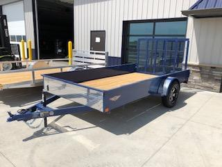 2019 H&H Trailers 76X12 Blue Steel Solid Side 3.5k Single Axle Utility