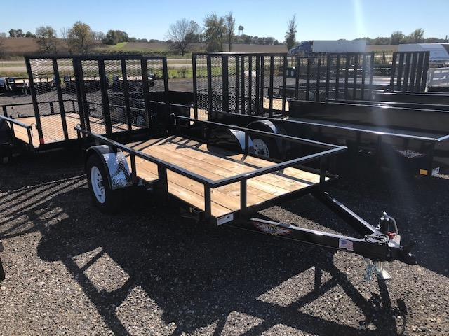 "2019 H&H Trailers 82""x12' Utility Rail Side Single Axle"