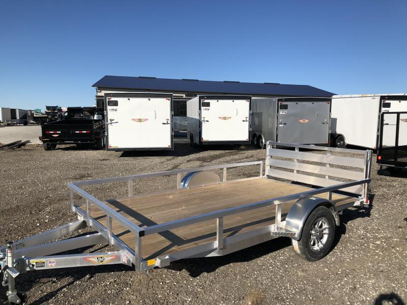 2019 H&H Trailers 8x12 Utility Rail Side Single Axle
