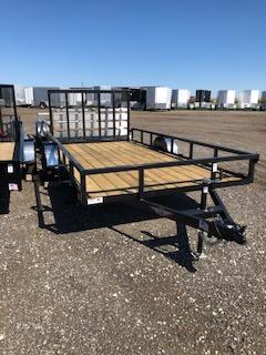 2019 H&H Trailers 8.5x16 Utility Rail Side Tandem Axle