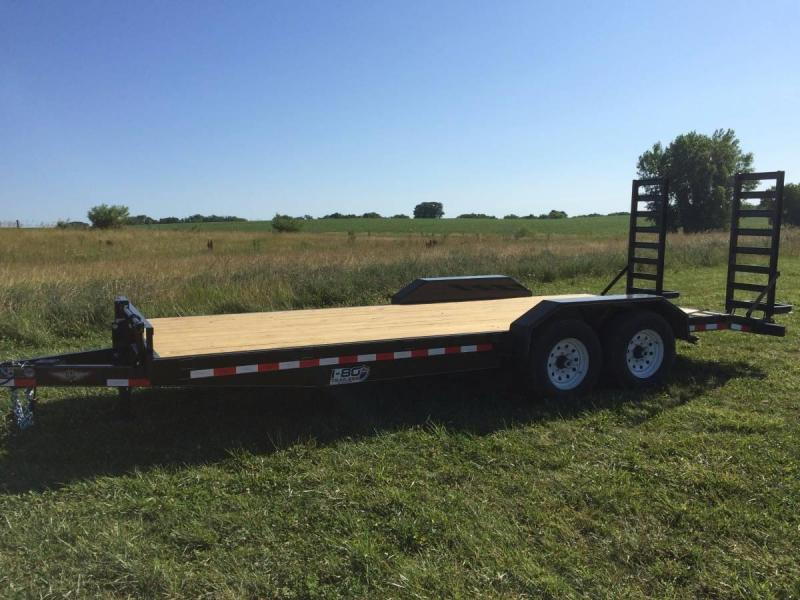 "2019 H&H Trailers 82""x20' Industrial Flatbed Tandem Axles"