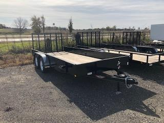 2020 H and H Trailers 82X18 Steel Solid Side 3.5k Tandem Axle Utility Trailer