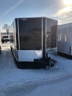 "2019 H&H Trailers 101""x16' Cargo Black Flat Top V-Nose Tandem 3.5k Axle"