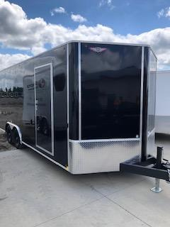 2020 H and H Trailers 101X20 Black Enclosed V-Nose 5.2k Tandem Axle Car Hauler