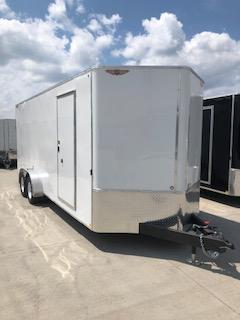 2019 H&H Trailers 7'x20' White Enclosed V-Nose Tandem Axle