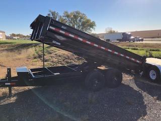 "2019 H&H Trailers 83""x14' DBW Dump Box Tandem Axle"
