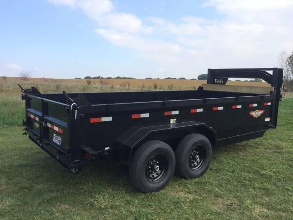 2020 H and H Trailers 83X16 DBW Gooseneck Dump Box 14k
