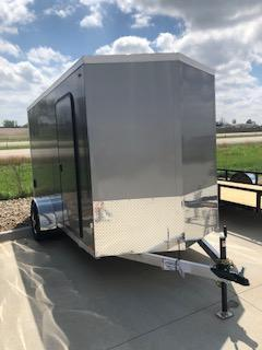 2019 Legend Trailers Pewter Thunder  6'X12' 0+ 1' V-Nose Single Axle Enclosed Cargo Trailer