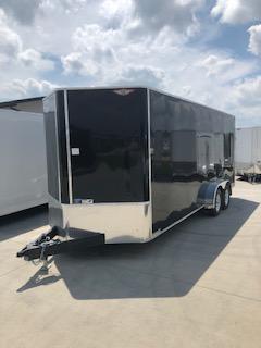 2019 H&H Trailers 7'x20' Black Enclosed V-Nose Tandem Axle