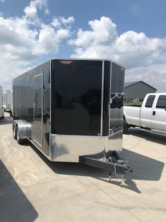 2019 H&H Trailers 7'x20' Black Enclosed V-Nose Tandem Axle