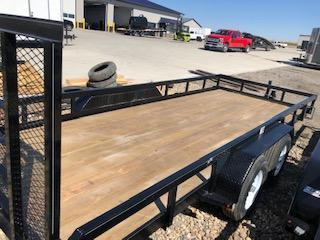 2019 H and H Trailers 8.5x18 Heavy Rail Side Tandem Axle