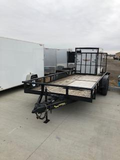 "USED 2015 DoolittleTrailers 82""x18' Pipe Rail Side Utility Tandem Axles"