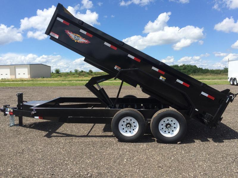 "2019 H&H Trailers 83""x12' DBW Dump Box Tandem Axle"