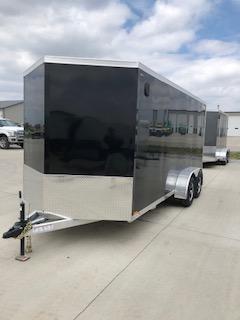 2019 Legend All Aluminum  7'X16' + 2' V-Nose Enclosed Cargo Trailer