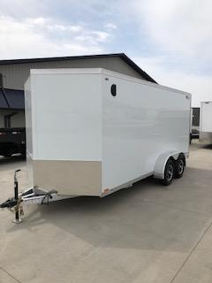 2019 Legend Trailers White Thunder  7'X16' + 2' V-Nose Tandem Axle Enclosed Cargo Trailer