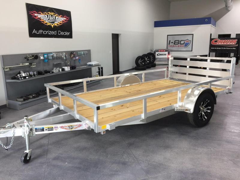 2020 H and H Trailers 82x12 Utility Rail Side Single Axle