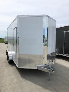 2019 CargoPro All Aluminum 7'X14'  Flat Top V-Nose Enclosed Cargo Trailer