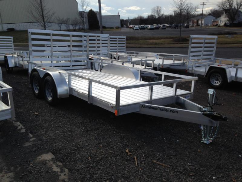 2017 Aluminum Trailer Company OUTAB7016+0-2T3.5K Flatbed Trailer