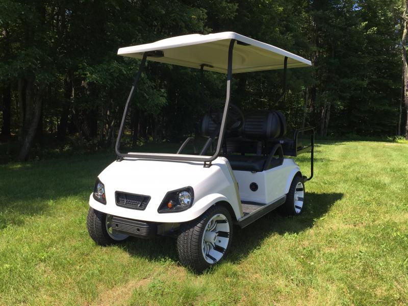Club Car DS Custom Pearl Spartan Electric 4 passenger golf cart ...