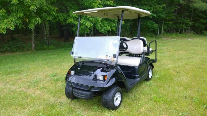 09 Yamaha Drive 4 pass electric golf car-Black with Custom Vortex Body