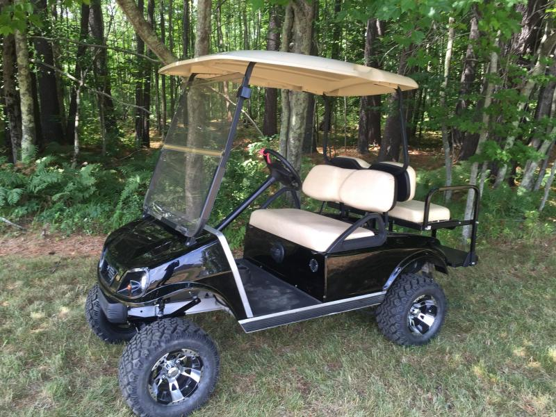 club car ds spartan custom black lifted electric golf cart 4 passenger kingstons karts epsom. Black Bedroom Furniture Sets. Home Design Ideas