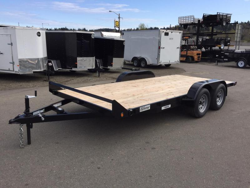 2017 Eagle Trailer E4FB718TA2 Flatbed Trailer