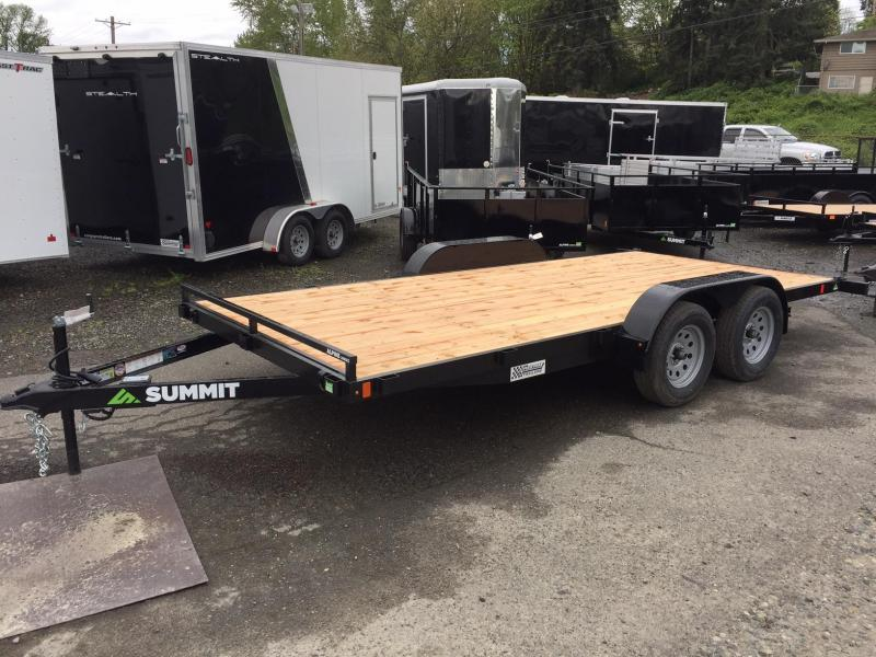 Summit A4FB716TA2 Flatbed Trailer