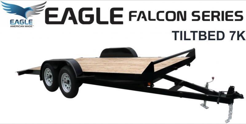 2019 Eagle Trailer FALCON FTB718TA2 Flatbed Trailer