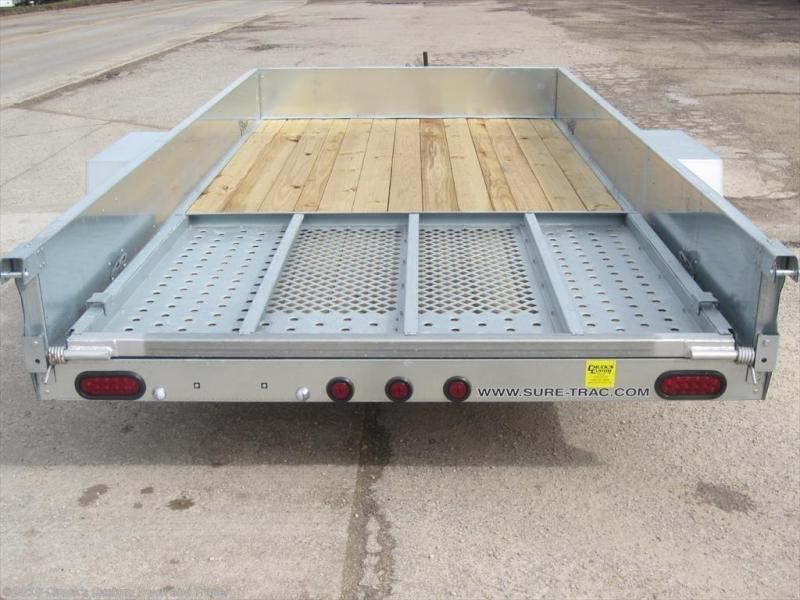 2018 Sure-Trac 6 X 12 Galvanized Utility Trailer
