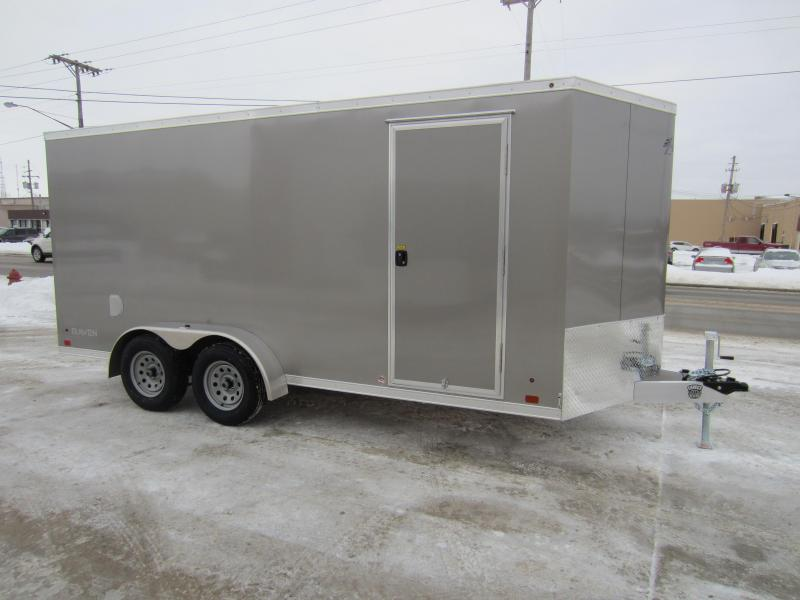 2018 Aluminum Trailer Company 7X16 ALUMINUM RAMP DOOR Enclosed Cargo Trailer