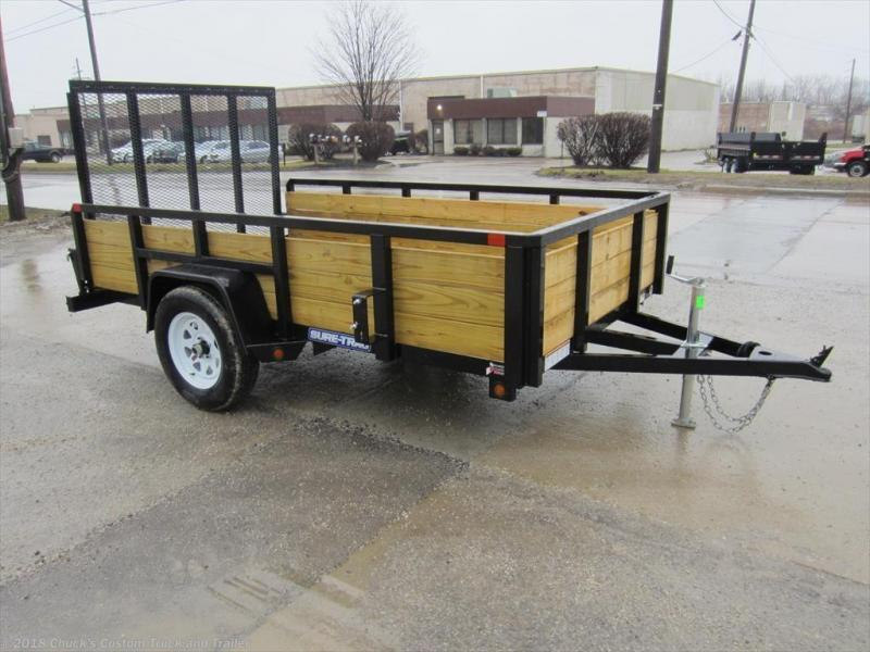 2018 Sure-Trac 6 X 10 3-Board Tube Top Utility Trailer