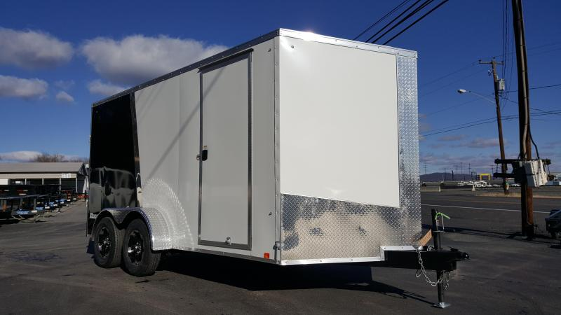 2018 Cargo Express 7 X 14 XLW Enclosed Trailer Alumn Wheels w/ Ramp Door