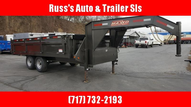2018 Maxxd 8x16 Gn Deckover Dump Trailer Fold Down Sides Russ Auto