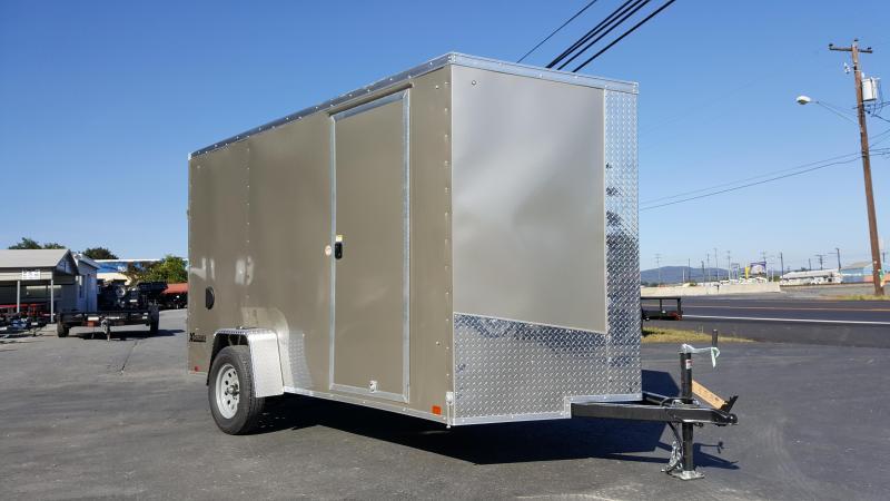 2018 Cargo Express 6 X 12 XLW SE Enclosed Trailer w/Ramp Door *Pewter