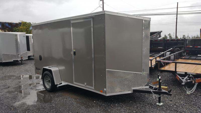 2018 Cargo Express XLW SE 6 X 12 Enclosed Trailer w/Ramp Door - Pewter