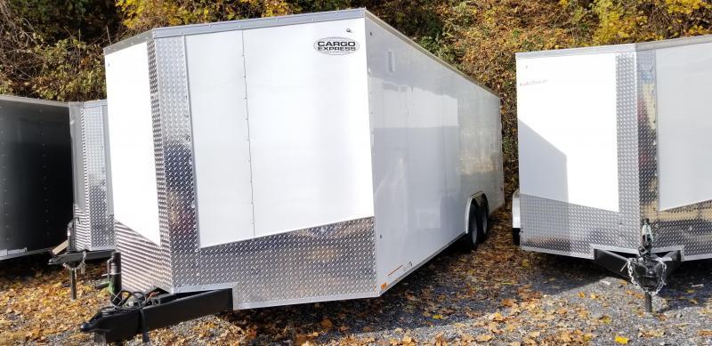 2018 Cargo Express Xlw Se 8.5 X 24 W/Ramp Door Beavertail & Extended Tongue