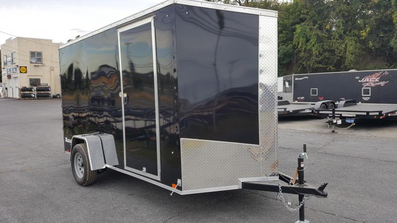 2018 Cargo Express XLW SE 6 X 12 Enclosed Trailer w/ Ramp Door- Black