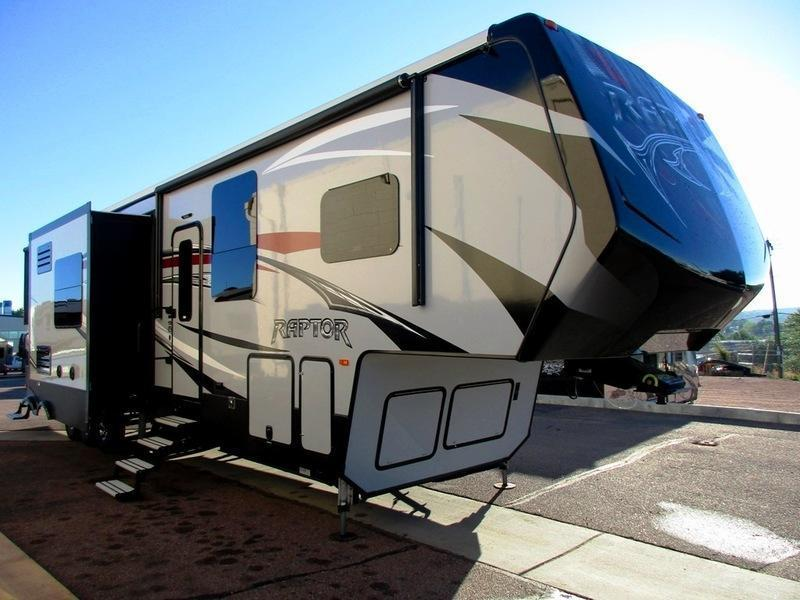 2017 Keystone Rv Raptor 425ts Ramp Patio Upgrade Fifth Wheel Toy
