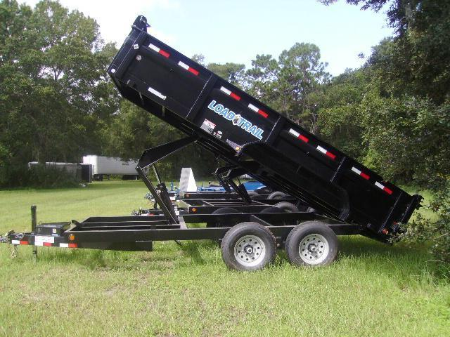 7X16 Load Trail Trailers  Tandem Axle Dump Trailer OPTIONS INCLUDED