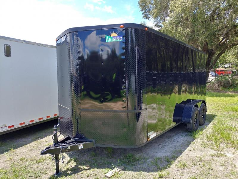2017 Arising 7X16 Blackout Enclosed Cargo Trailer