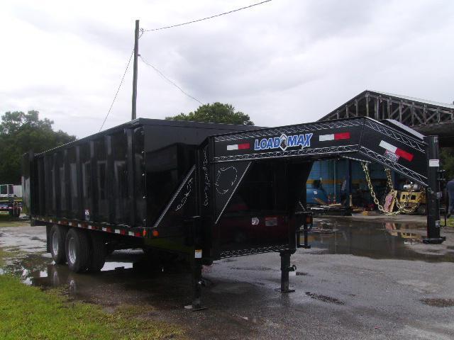 8.5x 20'  Load Trail Trailers Gooseneck Dump Deck Over  Dump