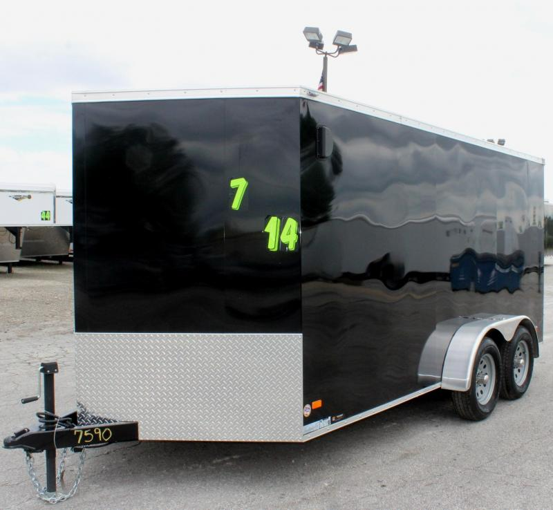 Now Available 2019 7'x14' Scout Cargo with Ramp Door/ Plus Pkg. PLUS Free Upgrades