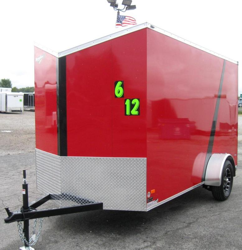 6'x12' Scout Cargo Trailer with Plus Pkg & Free Upgrades Viper II Alum Wheels