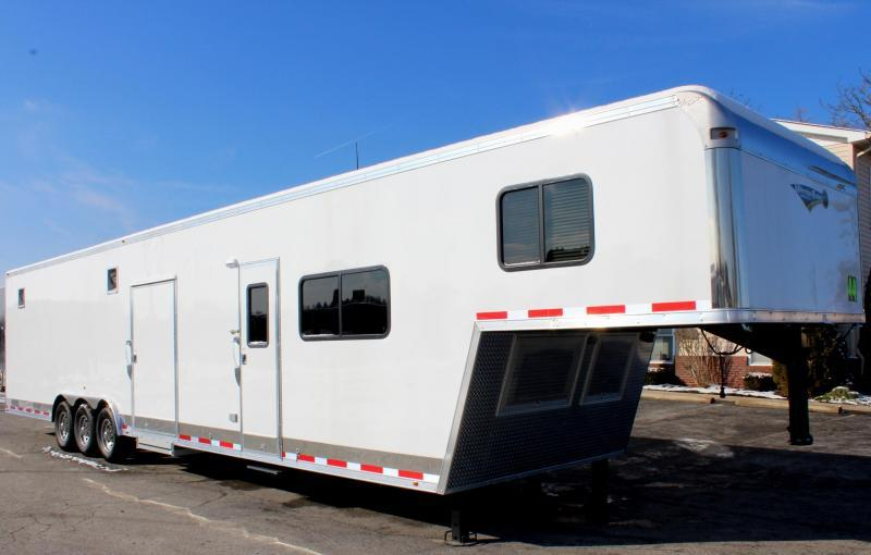 <b>Now Ready!</b> 2019 44' Millennium Silver 12'XE Living Quarter Trailer
